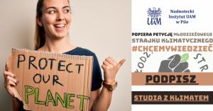 Nadnotecki Instytut UAM popiera petycję Młodzieżowego Strajku Klimatycznego